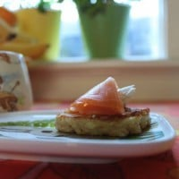Sweet and savoury baby blini