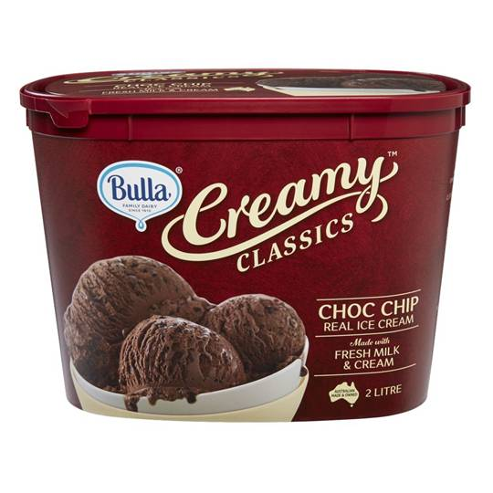 Simone reviewed Bulla Creamy Classics Ice Cream Rich Choc Chip