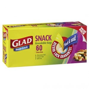 Glad Snap Lock Mini Storage Bags