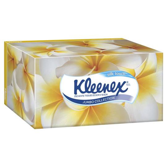 Kleenex Facial Tissues White Jumbo Pack