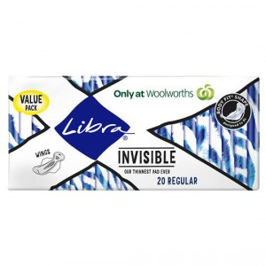 Libra Invisible Pads Ultra Thin Regular Value Pack