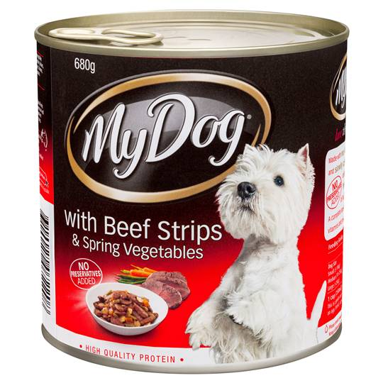 My Dog Adult Dog Food Beef Strips & Spring Vegetable