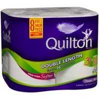 Quilton Double Length Toilet Tissue 3ply White 360 Sheets