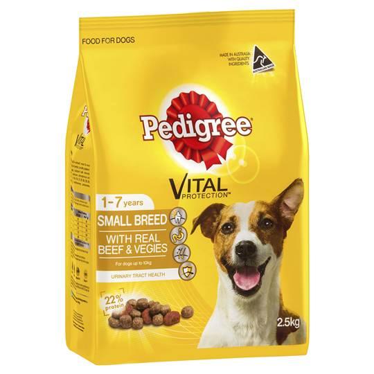 Pedigree Adult Dog Food Small Breeds Beef & Vegies