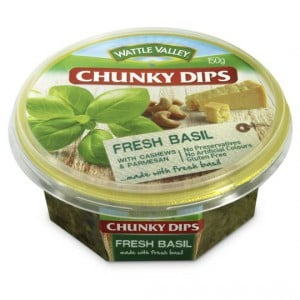 Wattle Valley Chunky Dip Basil With Cashew & Parmesan