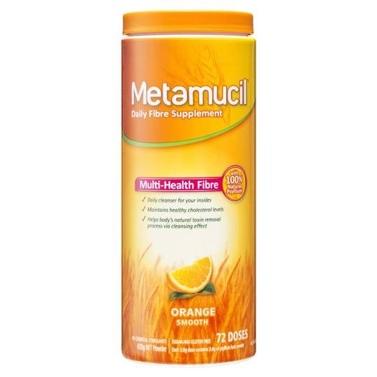 ~Loui~ reviewed Metamucil Daily Fibre Supplement Orange Smooth 72 Doses