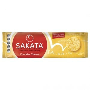 Sakata Rice Crackers Cheddar Cheese