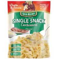 San Remo La Pasta Carbonara Single Snack