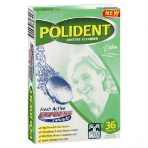 Polident Denture Care Cleanser Tablets Fresh Active