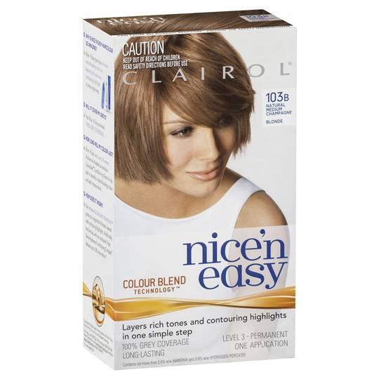 Clairol Nice N Easy 103b Natural Medium Champagne Blonde