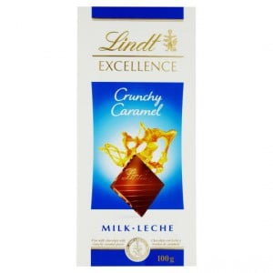 Lindt Excellence Milk Chocolate Crunchy Caramel
