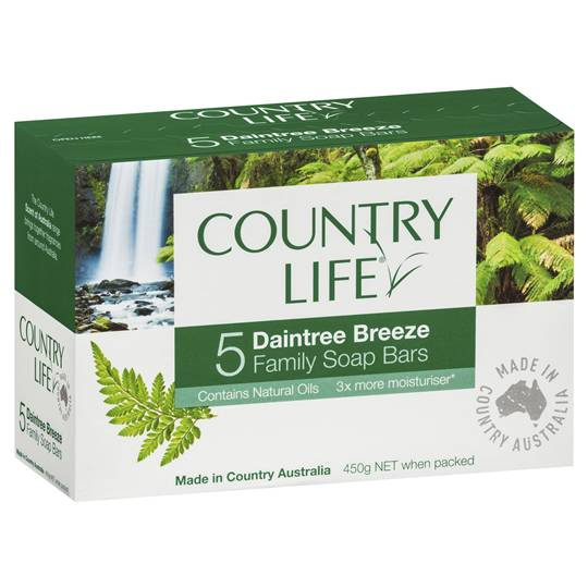 Country Life Family Soap Bars Daintree Breeze