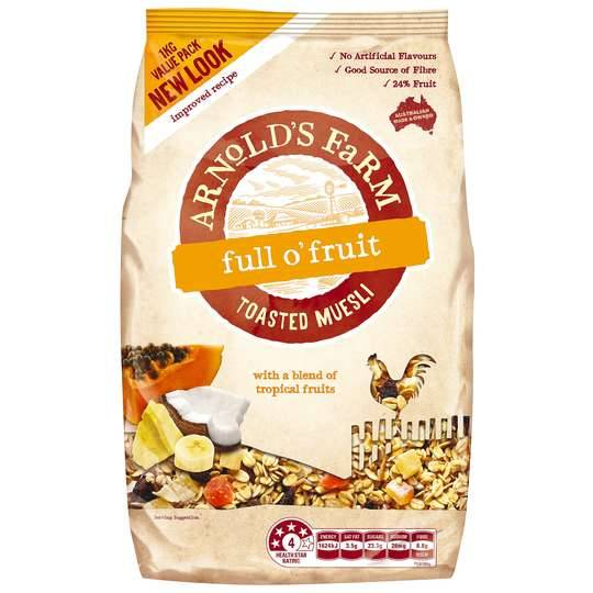 Arnolds Farm Full O Fruit Toasted Muesli