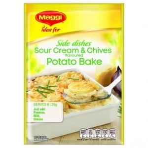 Maggi Sour Cream And Chives Potato Bake Recipe Base