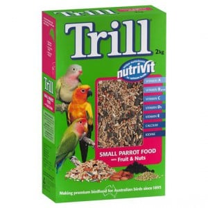 Trill Bird Food Small Parrot Fruit & Nut
