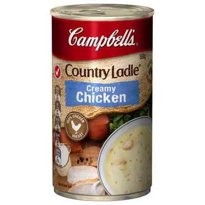 Campbell's Country Ladle Canned Soup Creamy Chicken