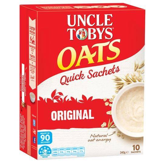 Uncle Tobys Quick Oats Sachets Original