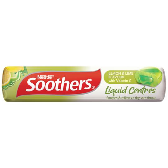 Soothers Throat Lozenges Liquid Centre Lemon Lime