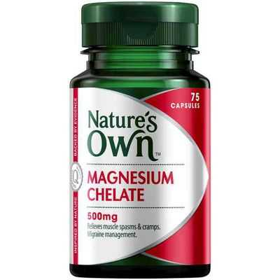 Nature's Own Magnesium Chelate 500mg Capsules
