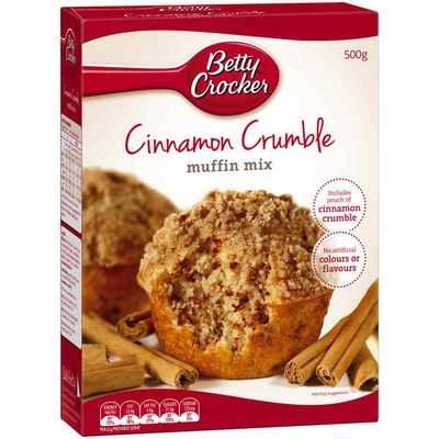 Betty Crocker Muffin Mix Cinnamon Crumble