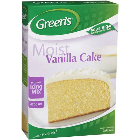 Greens Cake Mix Traditional Vanilla