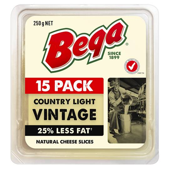 Bega So Light Vintage 25% Reduced Fat Cheese Slices