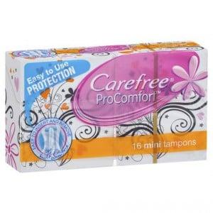 Carefree Procomfort Tampons Mini