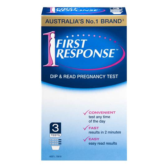 First Response Pregnancy Test Dip Read