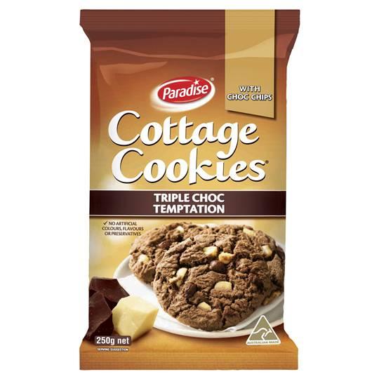 Paradise Cottage Cookies Triple Chocolate
