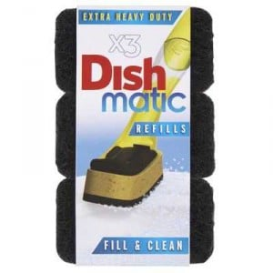 Dishmatic Dish Brush Extra Heavy Duty Refill