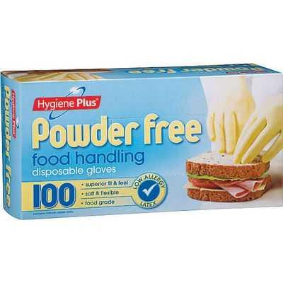 Hygiene Plus Latex Gloves Disposable Powderfree One Size