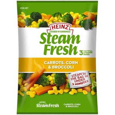 Heinz Steam Fresh Carrot Corn & Broccoli