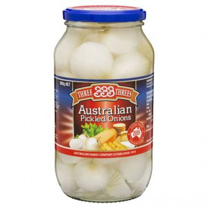 Three Threes Onions Pickled Australian