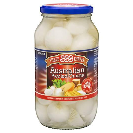 Three Threes Onions Pickled Australian
