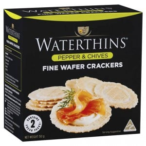 Waterthins Fine Wafer Cracker Pepper And Chives