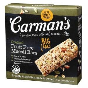 Carman's Original Fruit Free Muesli Bars