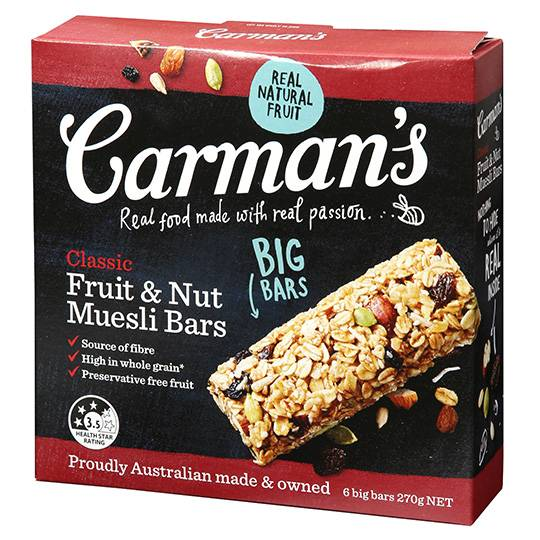Carman's Classic Fruit & Nut Muesli Bars
