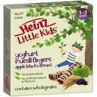Heinz Little Kids Snack Apple Bcurrant Muesli Fingers