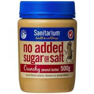 Sanitarium Crunchy Peanut Butter No Added Sugar Or Salt