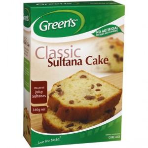 Greens Cake Mix Traditional Sultana