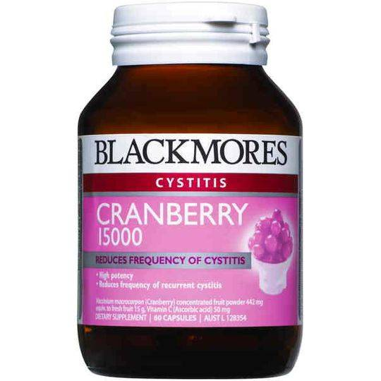 Blackmores Cystitis Cranberry Capsules 15000mg
