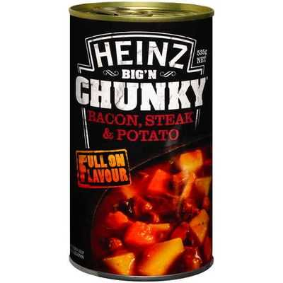 Heinz Big N Chunky Canned Soup Bacon Steak & Potato