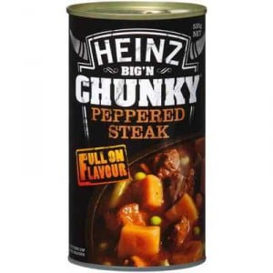 Heinz Big N Chunky Canned Soup Peppered Steak