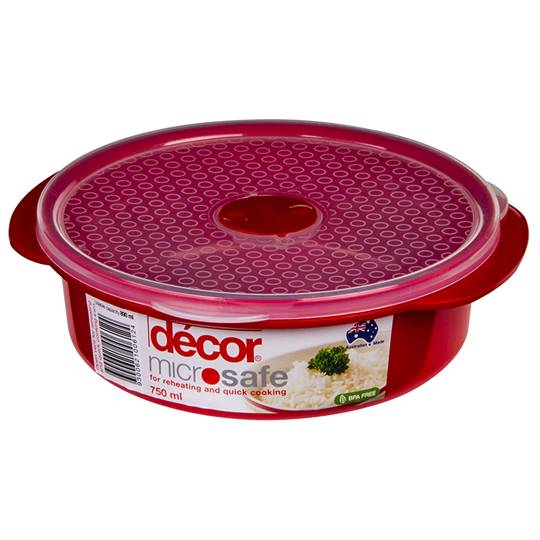 Decor Microsafe Container Round
