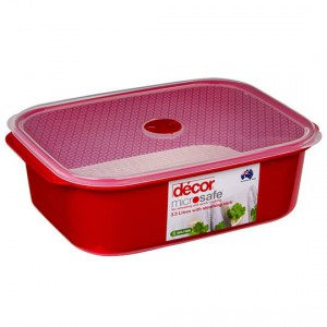 Decor Microsafe Container Oblong With Steaming Rack