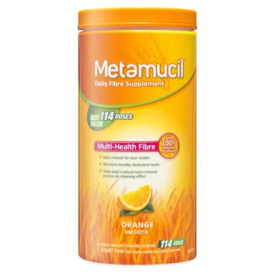 Metamucil Daily Fibre Supplement Orange Smooth 114 Doses