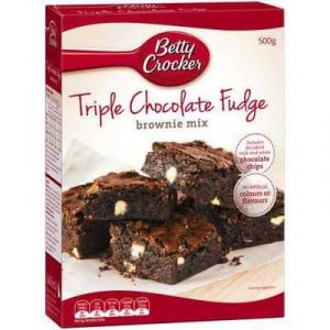 Betty Crocker Brownie Mix Triple Chocolate Fudge