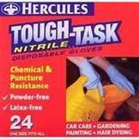 Hercules Tough Task Nitrile Gloves Disposable Chemical & Puncture