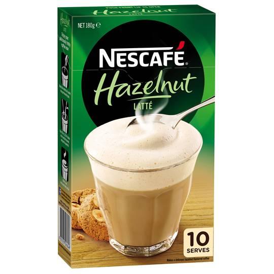 Nescafe Cafe Menu Hazelnut Latte
