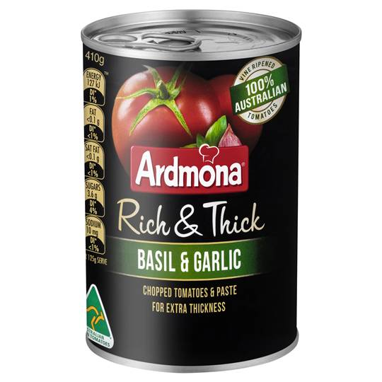 Ardmona Rich & Thick Basil & Garlic Tomatoes
